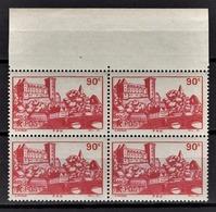 FRANCE 1939 - BLOC DE 4 TP / Y.T. N° 449 - NEUFS**. - France
