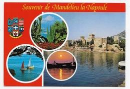 MANDELIEU LA NAPOULE - LE CHATEAU - LE BORD DE MER ET LES PLAGES - CPM GF VOYAGEE - France