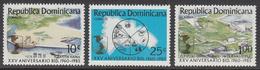 1985 Dominican Republic  IADB Maps Energy Electricity Dams Complete Set Of 3 MNH - Dominicaine (République)