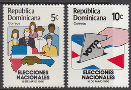 1986 Dominican Republic Democracy Vote Complete Set Of 2 MNH - Dominicaine (République)