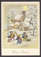 96938/ NOUVEL AN, Enfants Musiciens, Eglise, Village - Nouvel An