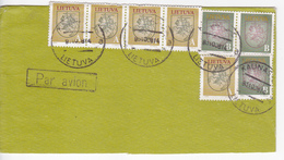 1993 , Lituanie  To Moldova , Fragment Of Used Cover - Lithuania