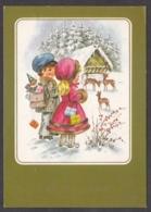 96967/ NOUVEL AN, Enfants Avec Des Biches - Anno Nuovo