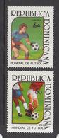 1994 Dominican Republic World Cup Football  Complete Set Of 2 MNH - Dominicaine (République)