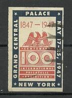 USA 1947 International Philatelic Exhibition New York O - Erinnofilie