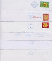 Lot De 6 Plis Avec Oblitération Neopost Nouvelle-caledonie BOURAIL - Andorre - Sans Moitié Inférieure - Marcophilie (Lettres)