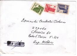 1992 , Roumanie To Moldova , Architecture , Used Cover - 1948-.... Républiques
