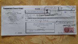Lettre De Change 21 Dijon Poinçonneuses Cisailles Vernet 1951 - Lettres De Change
