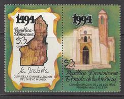 1994 Dominican Republic First Church New World Complete Set Of 1 MNH - Dominicaine (République)