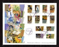 """"""" LE CUBISME / ADHESIFS """" Sur Enveloppe 1er Jour Grand Format De 2012 N°YT ADH 699 à 710 Parf état - FDC"""