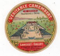 Jan19   14132   étiquette Camembert   Longuet Calloy - Fromage