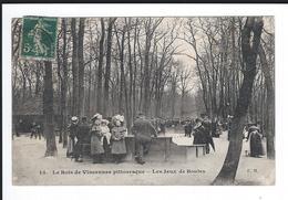 Dept 75. PARIS. 12è Arrdt. Le Bois De VINCENNES Pittoresque. Les Jeux De Boules. Belle Animation +++. - Arrondissement: 12