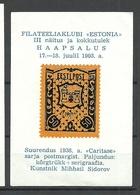 ESTLAND Estonia Estonie 1993 S/S With Caritas Carite 1938 Stamp MNH - Estonia