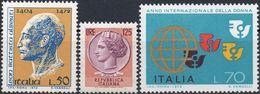 REPUBBLICA 1972/1975 - LEON BATTISTA ALBERTI + SIRACUSANA O TURRITA + ANNO DELLA DONNA - 3 SERIE COMPLETE NUOVE MNH** - 6. 1946-.. Repubblica