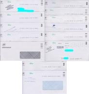 Lot De 11 Plis Avec Oblitération Toshiba Spécifique FRAR - FRAV - Datamatrix + 1 MTI-GF - Marcophilie (Lettres)