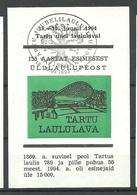 Estland Estonia 1994 Souvenir Sheet Singing Place Tartu + Special Cancel - Estonie