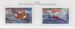 Malta - 2001 - Europa - L'Acqua Una Ricchezza Naturale - 2 Valori - Nuovi - Vedi Foto - (FDC13890) - Malte