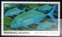 1989 Marshall Islands - Fishes - High Value Defenitives - Blauer Jack - MNH** Mi 208 Fish, Ocean, Marine Life - Marshall