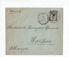 "CTN52C - URUGUAY LETTRE MONTEVIDEO / HARTHAU 16/11/1902  PAR BATEAU ""BRESIL"" - Uruguay"