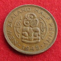 New Zealand 1/2 Half Penny 1945 KM# 12   Nova Zelandia Nuova Zelanda Nouvelle Zelande - Nouvelle-Zélande