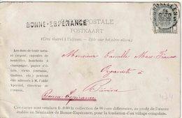 """GRIFFE : ZK(Bonne Espérance)  PZ (B)  """"BRUXELLES 1903"""" + Griffe """"BONNE * ESPERANCE"""" - Marcophilie"""
