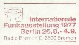 EMA METER FREISTEMPEL GERMANY BERLIN 1977 RADIO INTERNATIONAL FUNKAUSSTELLUNG - Timbres