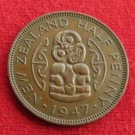 New Zealand 1/2 Half Penny 1947 KM# 12   Nova Zelandia Nuova Zelanda Nouvelle Zelande - Nouvelle-Zélande