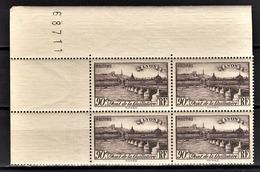 FRANCE 1939 - BLOC DE 4 TP /  Y.T. N° 450 - NEUFS**. - France