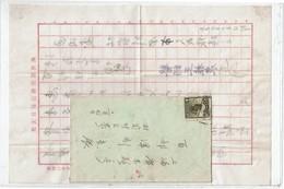 CTN52C - CHINE LETTRE AVEC CONTENU (LIEU ET DATE A DETERMINER) - 1912-1949 République