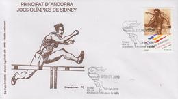 Enveloppe  FDC  1er   Jour   ANDORRE   Jeux  Olympiques  De  SYDNEY   2000 - Ete 2000: Sydney