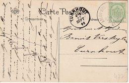 """AMBULANT TREINPOST  : ZK (GEMBLOUX) PZ (B) """"ARLON - BRUXELLES (BRUSSEL) 2 / 1911"""" - Marcophilie"""