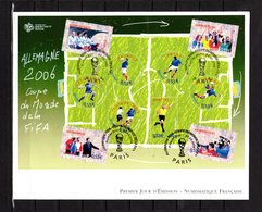 """"""" COUPE DU MONDE DE FOOTBALL 2006 EN ALLEMAGNE """" Sur Enveloppe 1er Jour Grand Format N° YT BF 97 Parfait état. FDC - Coupe Du Monde"""