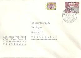Brief  Wettingen Langenstein -  Winterthur  (Rollenfrankatur)           1954 - Lettres & Documents