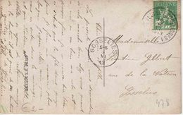 "AMBULANT TREINPOST  : PK PZ (B) ""LIEGE (LUIK) - ERQUELINNES 1 / 1913"" - Marcophilie"