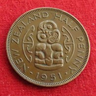 New Zealand 1/2 Half Penny 1951 KM# 20 *V2  Nova Zelandia Nuova Zelanda Nouvelle Zelande - New Zealand