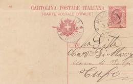 Deliceto.1917. Annullo Guller DELICETO (FOGGIA), Su Cartolina Postale Con Testo. Al Verso Timbro A Tampone PIZZICAGNOLO - 1900-44 Vittorio Emanuele III