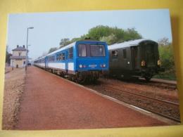 M2 7182 CPM - 28 BONNEVAL. LIGNE PARIS-CHATEAUDUN-TOURS. AUTORAIL X2208 CROISANT UN TRAIN SPECIAL LE 14 AVRIL 1991. - Gares - Avec Trains