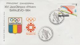 Enveloppe  FDC  1er  Jour   ANDORRE    Jeux   Olympiques   SARAJEVO   1984 - Hiver 1984: Sarajevo