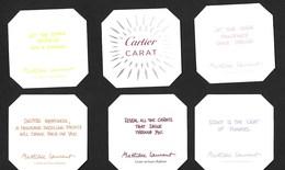 F-  NEW!! Lot De 5 Cartes CARTIER Toutes Différentes  - Carat - Perfume Card - UK - Perfume Cards