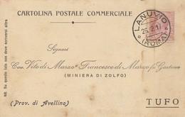 Lanuvio.1917. Annullo Guller LANUVIO (ROMA), Su Cartolina Postale Commerciale - 1900-44 Vittorio Emanuele III