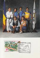 Carte  Maximum  1er  Jour   ANDORRE   Jeux  Olympiques   BARCELONE   1992 - Ete 1992: Barcelone