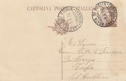 Sant'Agata Di Puglia.1926. Annullo Guller SANT'AGATA DI PUGLIA (FOGGIA), Su Cartolina Postale Con Testo. - 1900-44 Vittorio Emanuele III