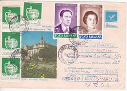 1990 , Roumanie  , Brasov , Used Pre-paid Envelope - 1948-.... Républiques