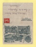 Carte Lettre Illustree - Brasserie De Munich - Majestic Restaurant - Toulon - Type Semeuse - Marcophilie (Lettres)