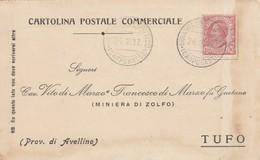 Mirabello Sannitico.1917. Annullo Guller MIRABELLO SANNITICO (CAMPOBASSO), Su Cartolina Postale Commerciale - 1900-44 Vittorio Emanuele III