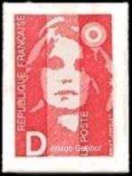 France N° 2713 ** Ou N° 2 Autoadhésif - Marianne Du Bicentenaire - Briat - Lettre D = 2.50 Rouge - France