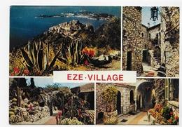 EZE VILLAGE - N° 11189 - MULTIVUES - CPSM GF VOYAGEE - Eze