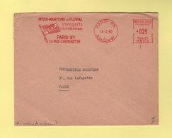 EMA - Machine SR W - Machine De Remplacement - Paris - Inter Maritime Et Fluviale - 1960 - Marcophilie (Lettres)