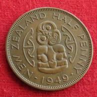 New Zealand 1/2 Half Penny 1949 KM# 20  Nova Zelandia Nuova Zelanda Nouvelle Zelande - Nouvelle-Zélande