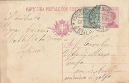 Sepino.1923. Annullo Guller SEPINO (CAMPOBASSO), Su Cartolina Postale Con Risposta Pagata - 1900-44 Vittorio Emanuele III
